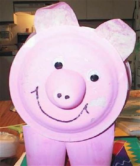 Pig Paper Plate Craft - paper plate pig craft