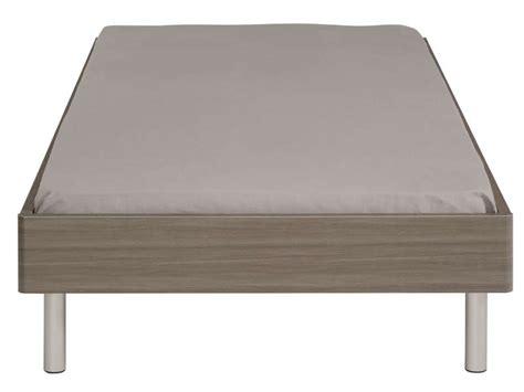 lit 90x190 cm misy coloris noyer silver vente de lit