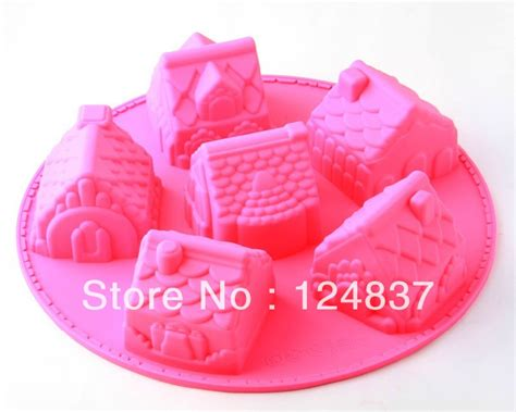 6 holes house silicone cake mold wedding decorating