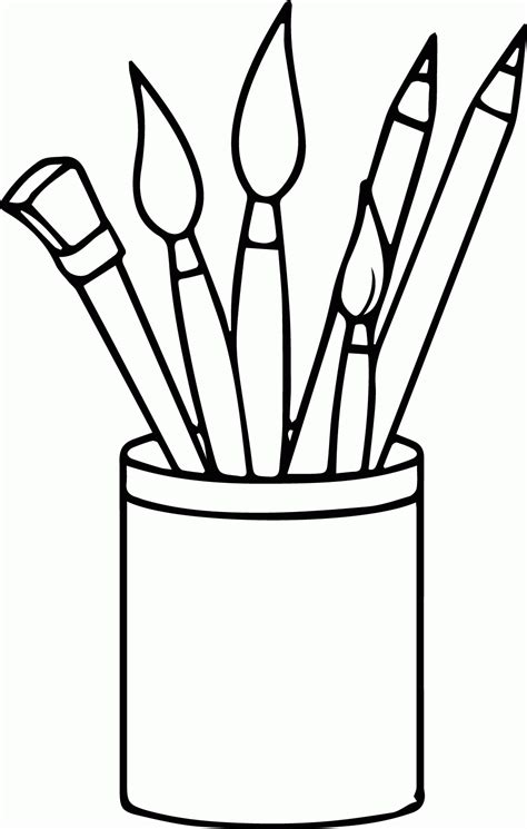 Painting Coloring Page Coloring Home Coloring And Painting