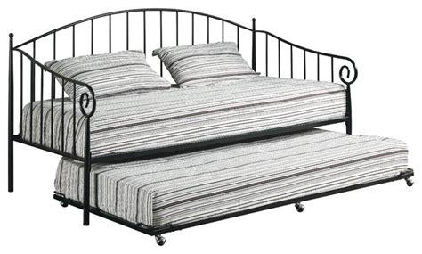 Metal Trundle Bed Frame Pop Up Matte Black Metal Size Day Bed Daybed Frame With Pop Up Trundle Beds By Pilaster