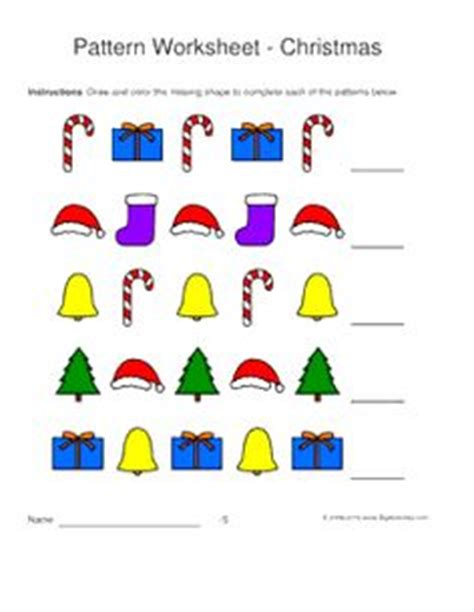christmas pattern worksheets preschoolers 1000 images about christmas on pinterest connect the