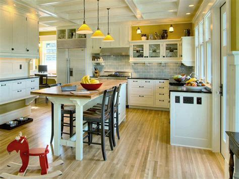 kitchen island breakfast table 25 colorful kitchens kitchen ideas design with