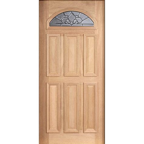 Wood Glass Front Door 1 2 Lite Doors With Glass Wood Doors Front Doors Doors The Home Depot