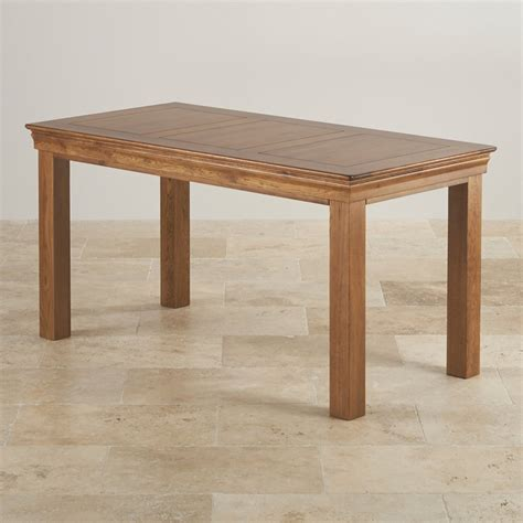 Rustic Farmhouse Dining Tables Farmhouse 4 Ft Dining Table Rustic Solid Oak
