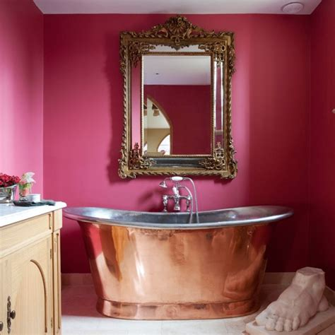 wow factor wall mirrors cosy home blog pink and copper bathroom glamorous converted church