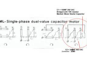 6 best images of dual voltage motor wiring diagram single phase capacitor start motor wiring