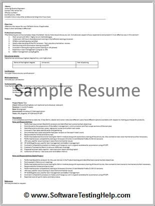 resume format for software tester the beginner s guide to writing a software testing resume with free sle resume