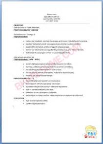 resume for entry level flight attendant free resume