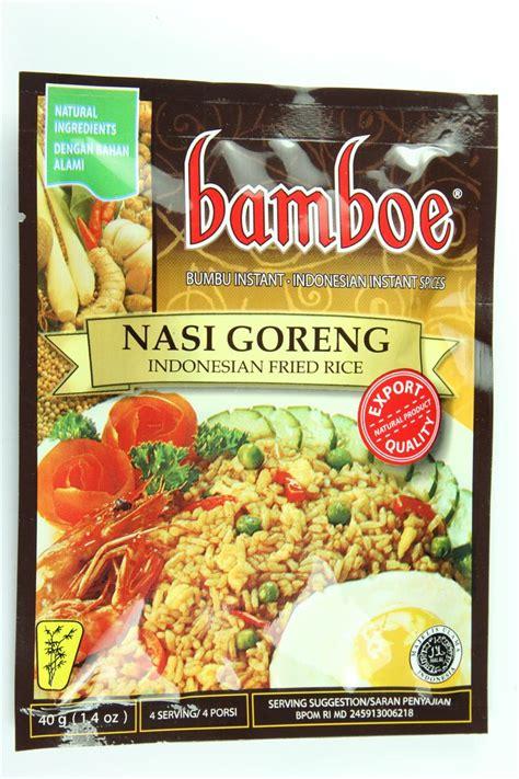 Bamboe Bumbu Nasi Goreng 54gr fried rice nasi goreng 1 4 oz by bamboe