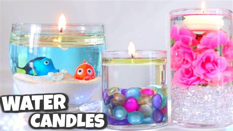 diy water candle vase centerpiece candles how to
