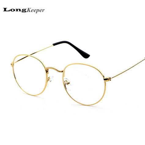 design frame for glasses 2016 new designer woman glasses optical frames metal round