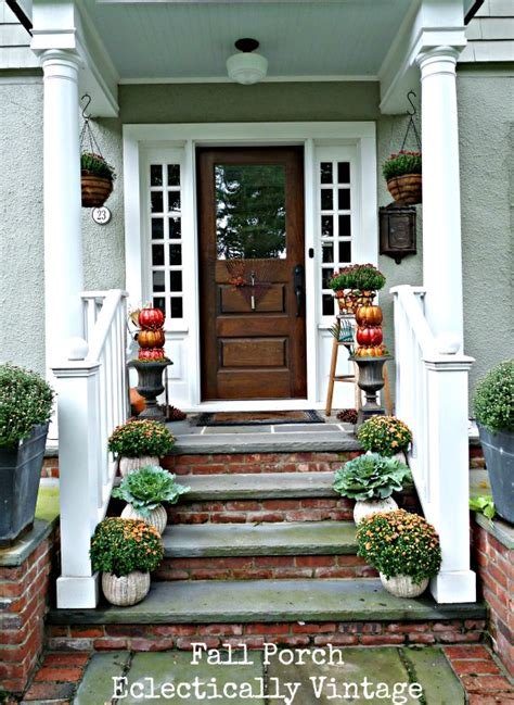 Ideas For Steps For Front Door by 7 Sensational Fall Porch Ideas Tauni Co