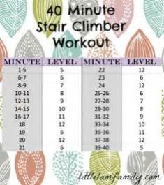 Stair Climbing Workout Plan by 1000 Ideas About Stair Climber Workout On Pinterest