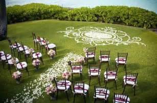 Backyard Wedding Layout Outdoor Wedding Ceremony Decorations Romantic Decoration