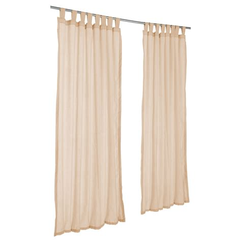 sunbrella curtains patio sheer honey sunbrella outdoor curtains with tabs