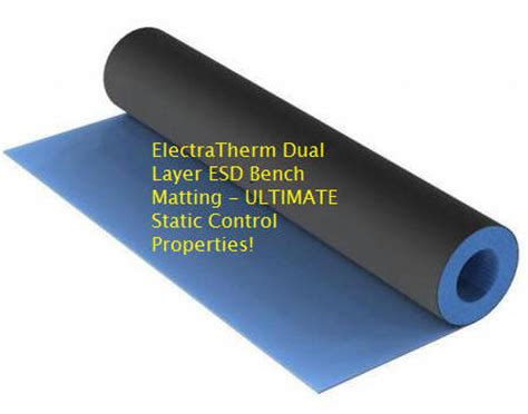 rubber bench heat resistant esd bench top matting