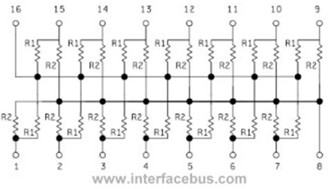 resistor network diagram glossary of electronic resistor networks