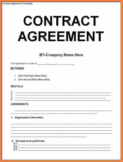 contractor templates free 8 contract agreement template marital settlements