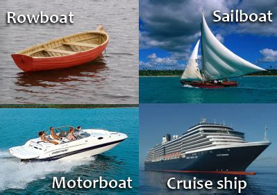 types of boats a z english vocabulary with pictures 27 ocean words