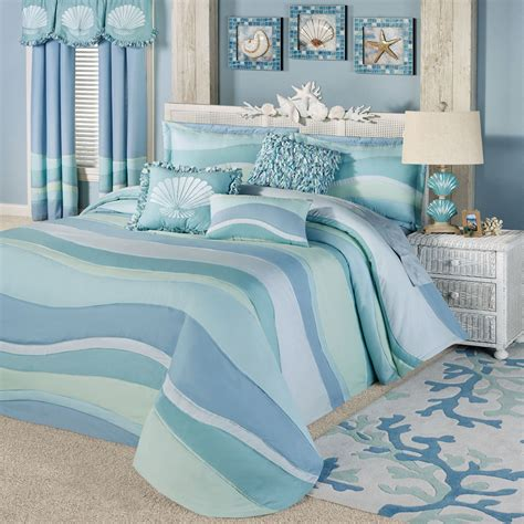 coastal quilts and coverlets ocean tides lightweight oversized coastal bedspread