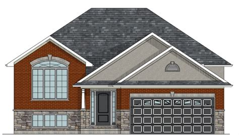 raised bungalow floor plans canadian home designs custom house plans stock house