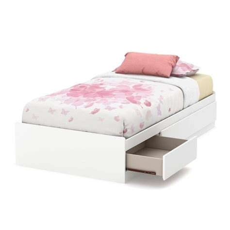 mates bed south shore callesto twin mates bed in pure white 9018a1