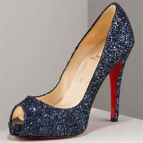 blue sparkly high heels navy blue glitter heels fs heel