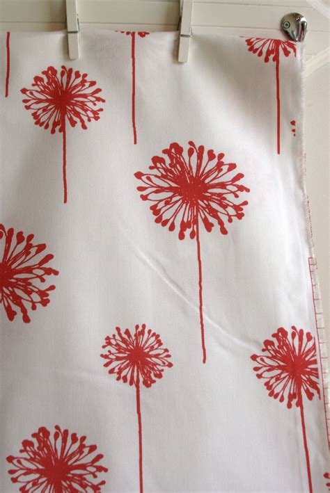 coral dandelion home decor weight fabric from premier