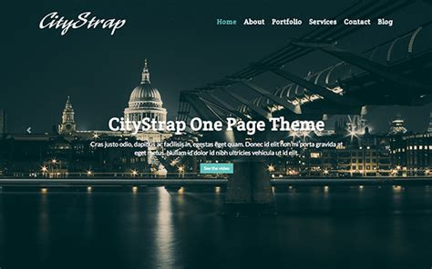 template one page html5 citystrap one page html5 template bootstrap portfolio