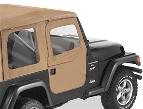 Jeep Wrangler Soft Doors Bestop 2 Soft Doors For Jeep Wrangler 1997 2006