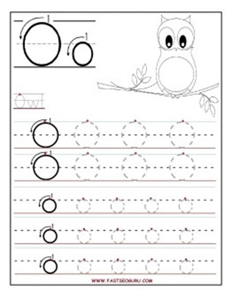 printable tracing letter o printable letter o tracing worksheets for preschool