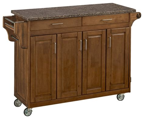 oak kitchen island cart create a cart in cottage oak finish transitional