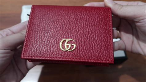 gucci card compact wallet unboxing