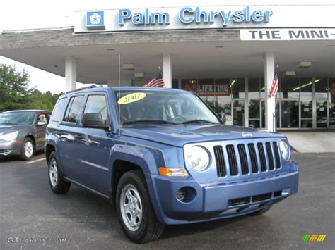 patriot jeep blue 2007 marine blue pearl jeep patriot sport 544193