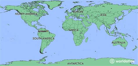 where is suriname on world map where is suriname where is suriname located in the