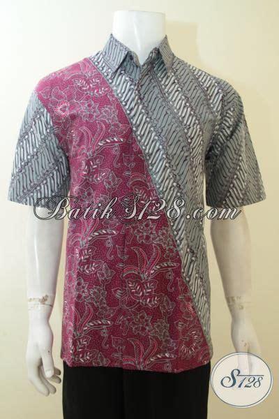 Elegan Pakaian Kemeja Batik Motif Melati pakaian batik kemeja dengan model motif terbaru hem batik mewah halus warna elegan pas untuk