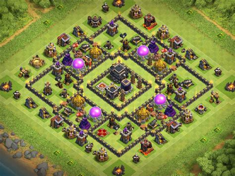 layout coc th9 top 12 best th9 farming base 2017 new anti