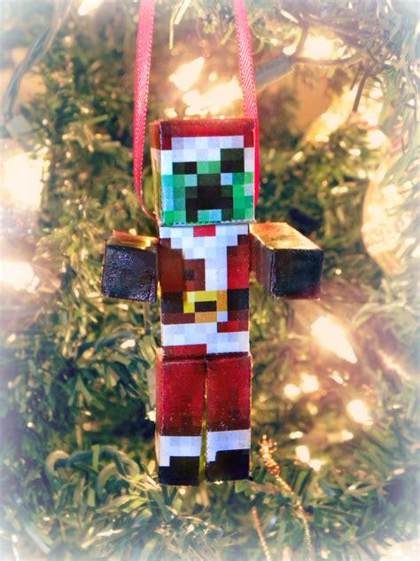 diy minecraft creeper santa ornament kerryannmorgan com