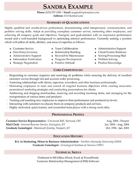 great resume summaries customer service resume summary jvwithmenow