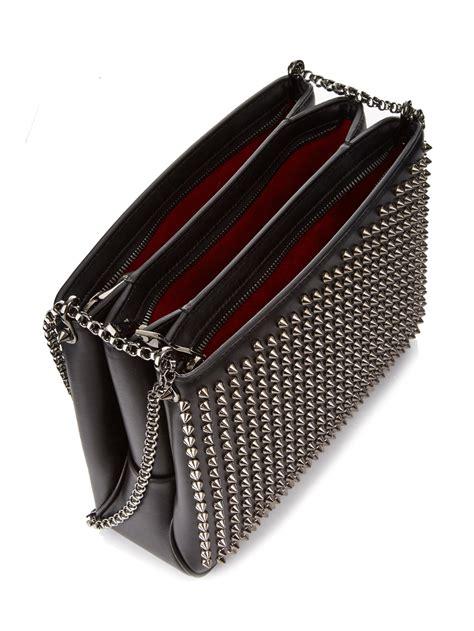 Christian Louboutin Leather Loubette Purse by Christian Louboutin Triloubi Large Spiked Leather Shoulder
