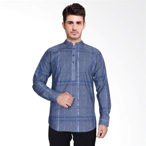 Yudika Baju Koko Blue Pria Pakaian Muslim Biru jual fayruuz baju koko stylish pria biru l blue harga kualitas terjamin blibli
