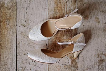 Ballerina Spitze Ivory by Flache Brautschuhe Ballerinas Spitze Creme Beige