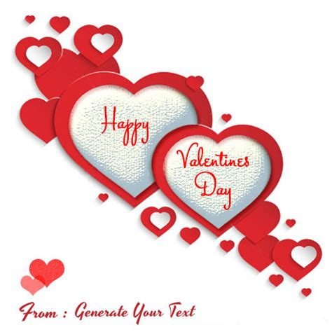 valentines name happy valentines day greetings with your name