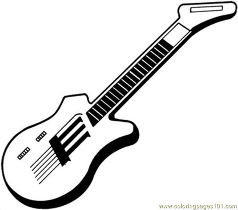 printable guitar images coloring pages electric guitar entertainment