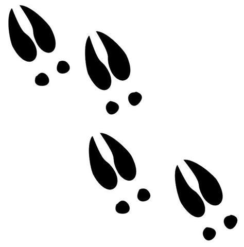 Footstep Skull Black deer tracks decals md window stickers wildlife decal