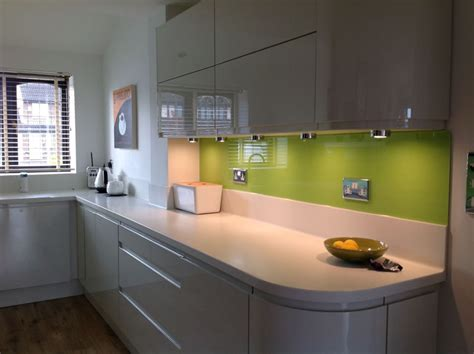 Corian Glass glass splashback and corian worktops home splashback handmade kitchens and