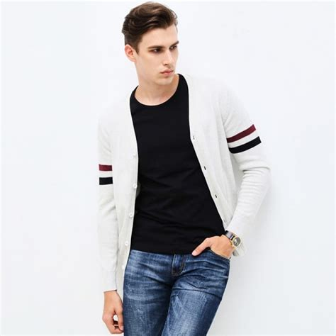 Sweater Jaket Model 82 buy autumn winter brand clothing sweater fashion striped slim fit cardigan high quality