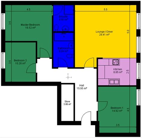 Floor Plans For Estate Agents | 2d floor plans for estate agents