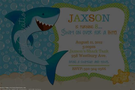 baby shark invitation shark birthday invitations free free invitations ideas